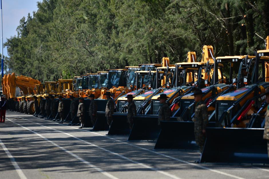En total, serán 47 máquinas las que trabajarán para este proyecto del Ejército. (Foto: Wilder López/Soy502)
