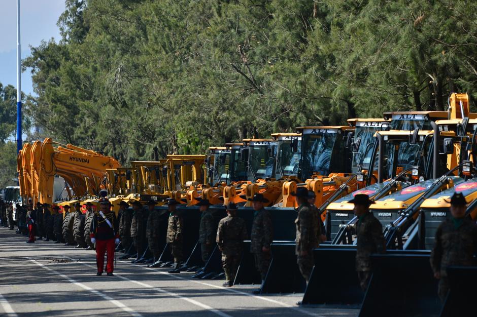 La maquinaria que se utilizará fue comprada por el Ministerio de Desarrollo Social y dada en préstamo al Ministerio de la Defensa Nacional. (Foto: Wilder López/Soy502)