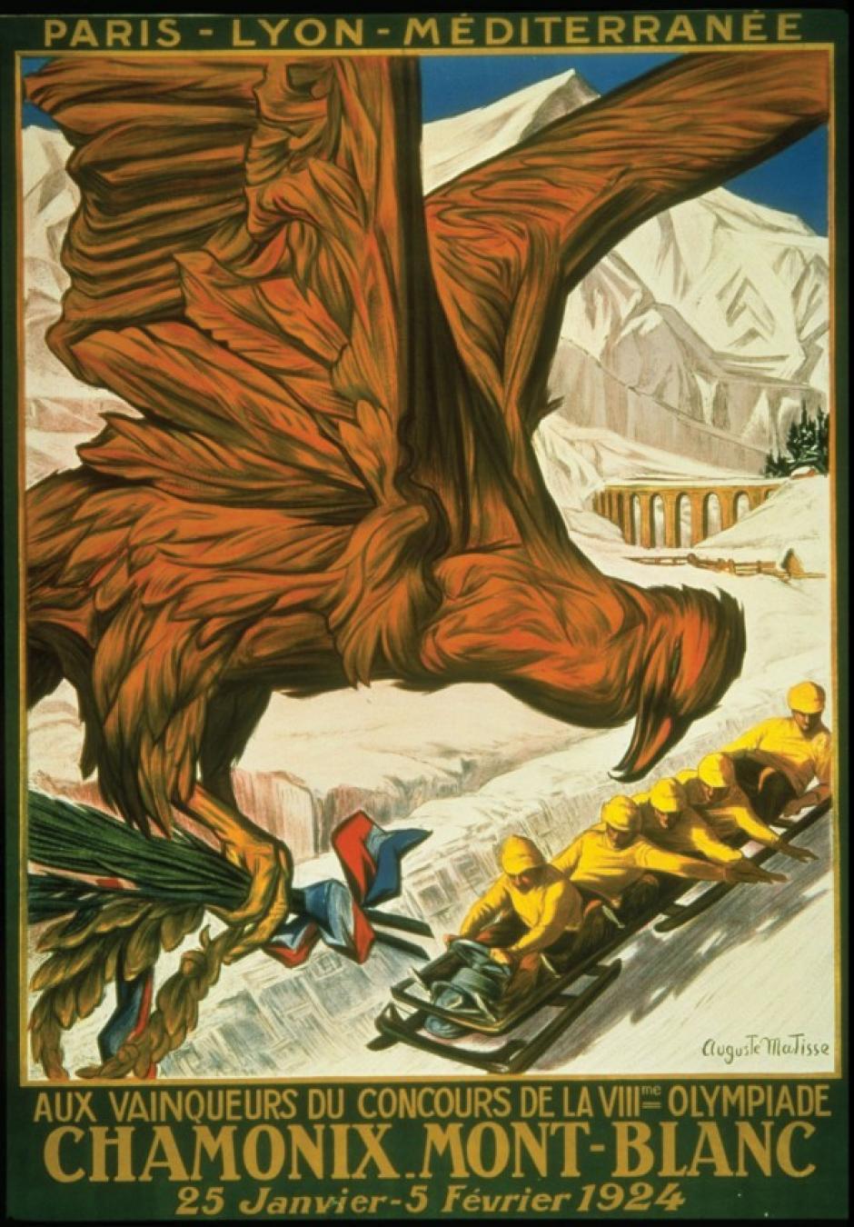 Los Juegos Olímpicos de Invierno de 1924 en Chamonix-Mont-Blanc.