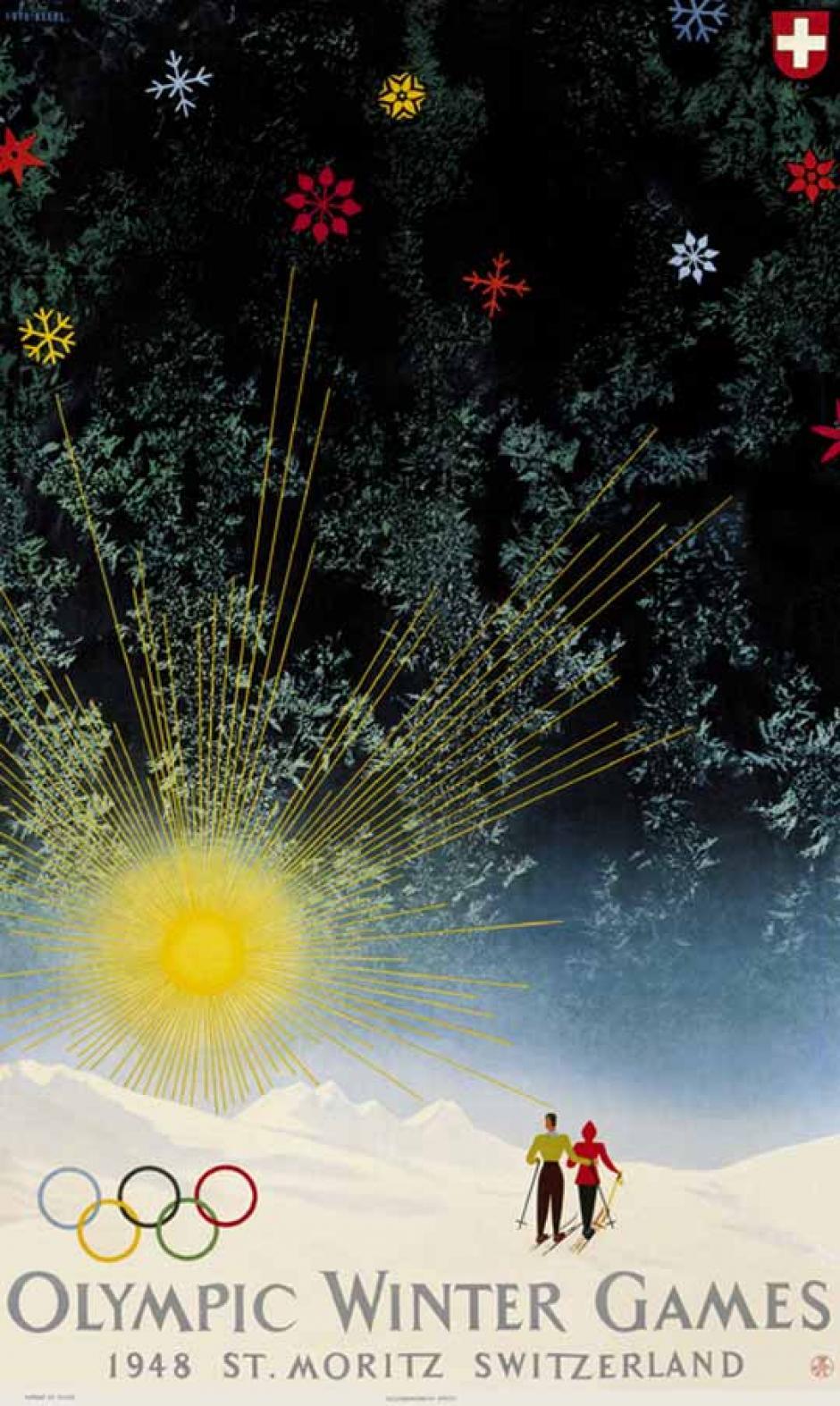 En 1948, Saint Moritz, Suiza repite como sede los juegos de invierno.