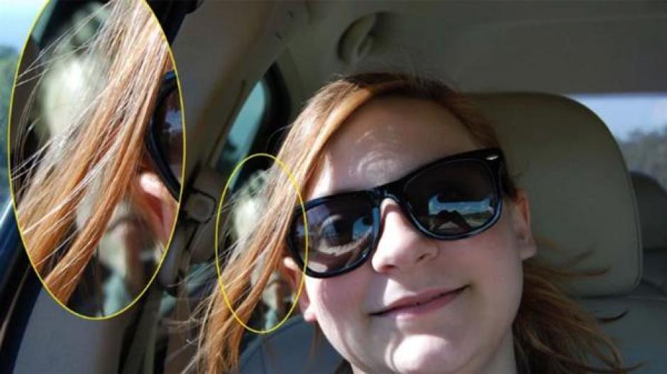 Al analizar de cerca el contenido, en la parte trasera de la chica aparece la cabeza del niño. (Foto: Infobae)