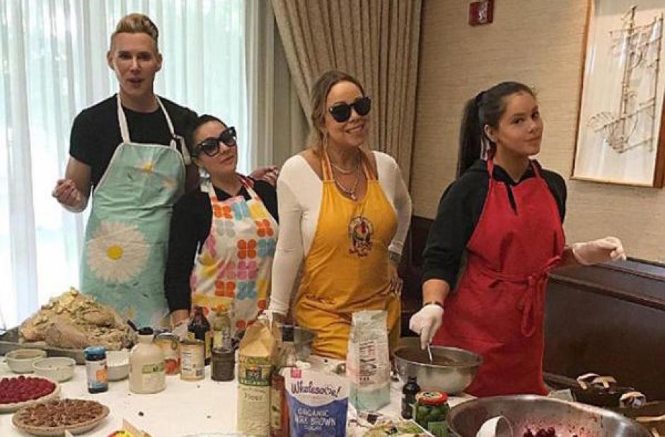 Mariah Carey quiso mostrar que también puede preparar la cena de Acción de Gracias. (Foto: Instagram)
