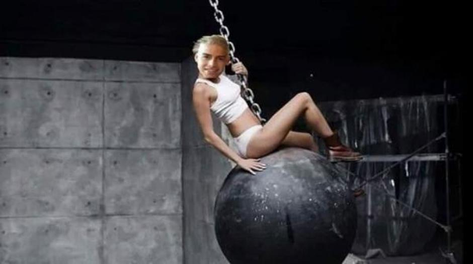 Las comparaciones con Miley Cyrus fueron muchas. (Imagen: infobae.com)