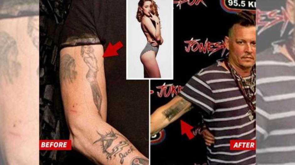 Johnny Depp es uno de esos actores que ha tenido que recurrir a otros métodos para olvidarse de los tatuajes que se hizo y que le recordaban a su ex pareja. (Foto: Infobae)