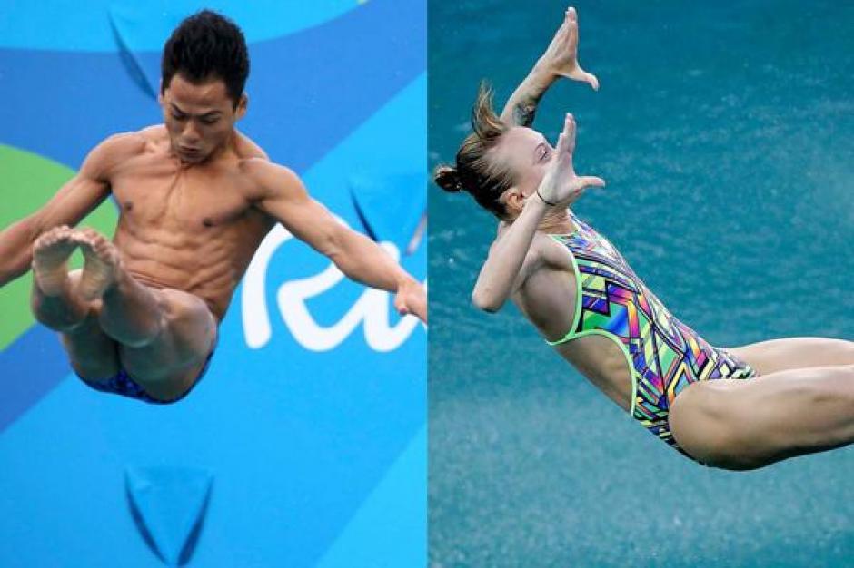 Nadezhda y Azman Ahmad protagonizaron los peores clavados de los Juegos Olímpicos. (Foto: infobae.com)