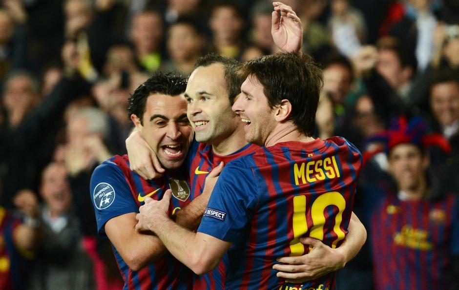 Entre Xavi, Iniesta y Messi han ganado 87 títulos, entre clubes y Selecciones. (Foto: Twitter)
