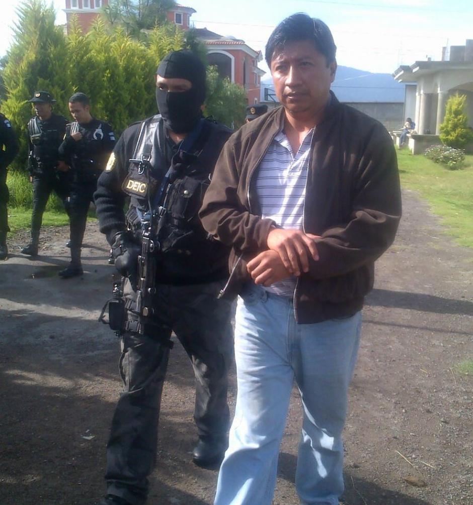 Detienen al exconcejal de Quetzaltenango, Hamilton Giovanni Pérez Hernández. (Foto: PNC)
