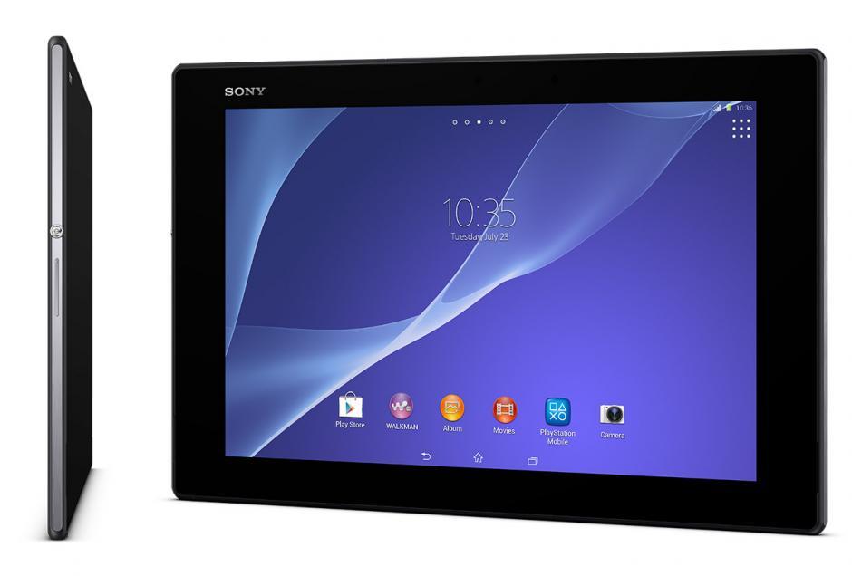 La tablet XPeria Z2 de Sony se presentó como la más delgada y ligera del mundo y además es resistente a los golpes y al agua. (Foto: Sony)