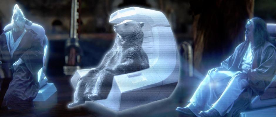 El oso en una referencia directa de Star Wars (Foto: reddit.com)