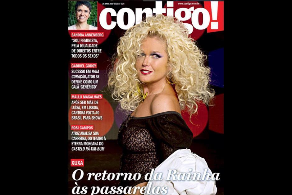 Xuxa posó con el nuevo look en la revista contigo!. (Foto: Instagram)