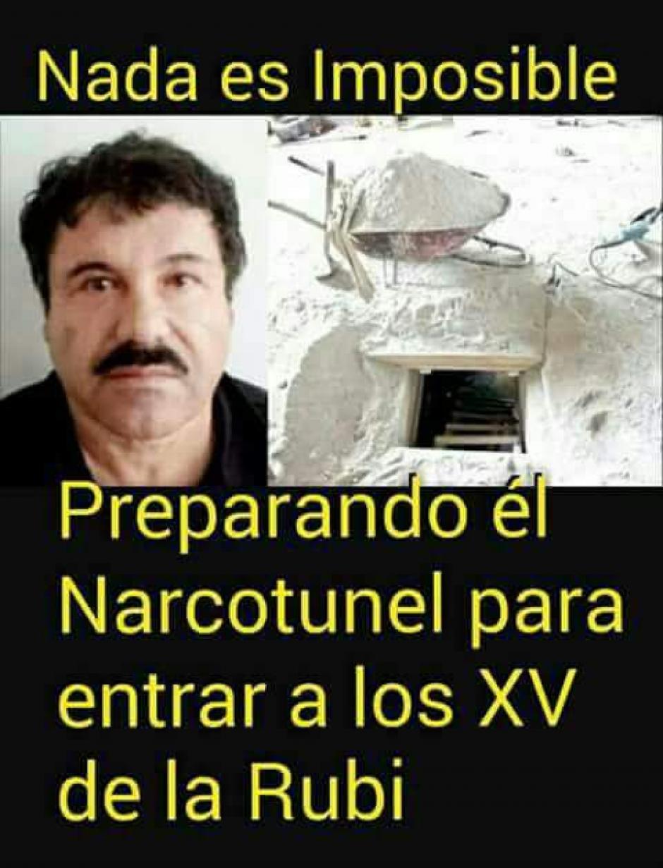 """Hasta """"El Chapo"""" Guzmán apareció en los memes. (Foto: Xv Años De Ruby En San Luis Potosi/Facebook)"""