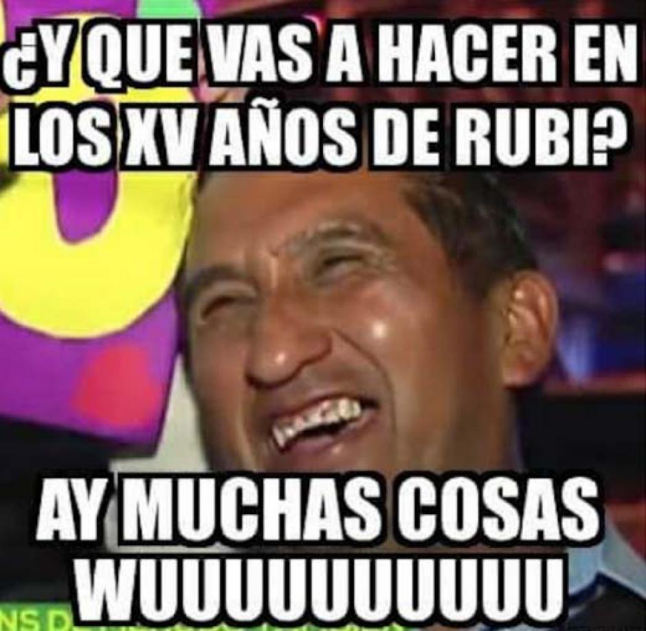 """""""Lady Wuu"""" fue satirizado en los memes de Rubí. (Foto: Xv Años De Ruby En San Luis Potosi/Facebook)"""