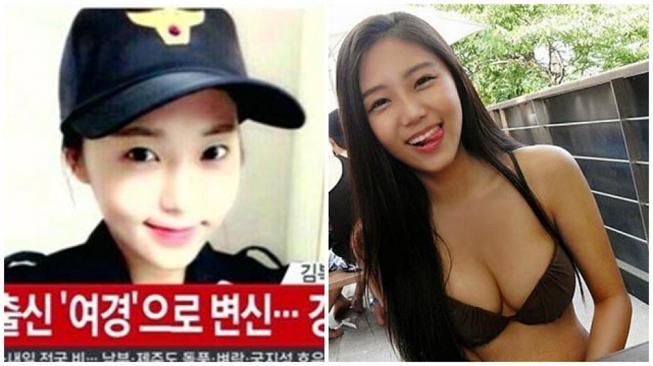 Kim Miso cambió una carrera de modelaje por un uniforme y una placa