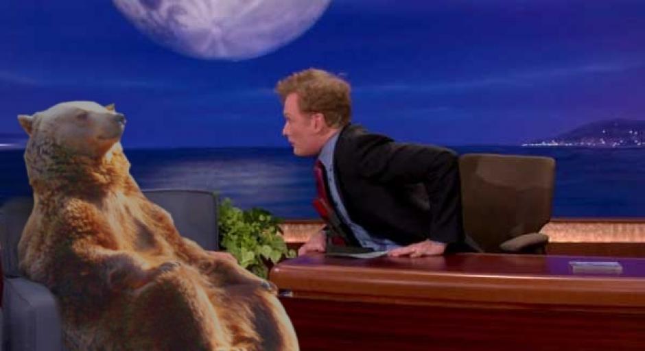 El oso es invitado a un show de televisión (Foto: reddit.com)