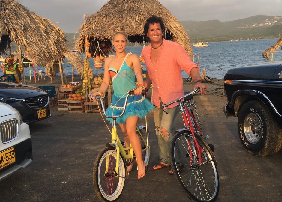 """""""La bicicleta"""" es otra de las colaboraciones que Shakira hizo en 2016. (Foto: Youtube)"""
