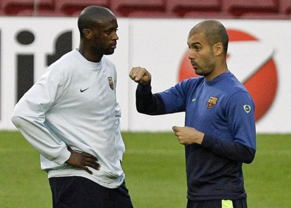 Yaya y Pep se conocen desde el paso de ambos por el Barcelona. (Foto: Twitter)