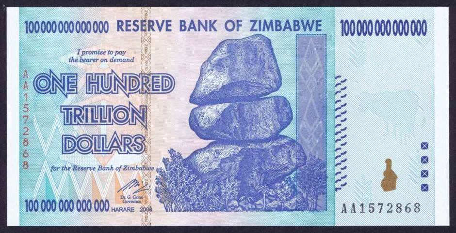 Un Dólar Estadounidense Es Igual A 35 Cuatrillones De Dólares Zimbabue Si Está Cantidad