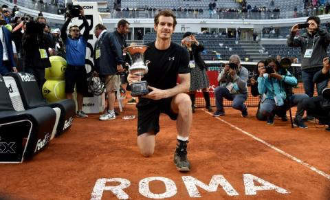 Tenis: Murray y Serena Williams se imponen en el Torneo de Roma