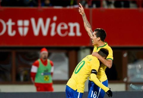Brasil obtiene una gris victoria ante Austria