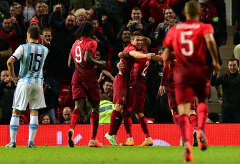Portugal derrotó a Argentina, Cristiano y Messi jugaron medio tiempo