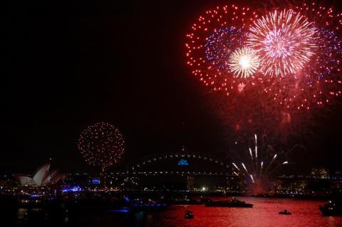 Sydney celebra  la llegada del nuevo año