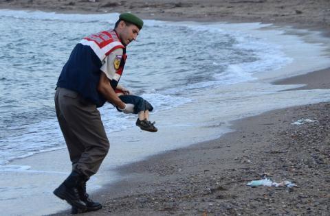 El drama de los refugiados sirios, la imagen triste del día