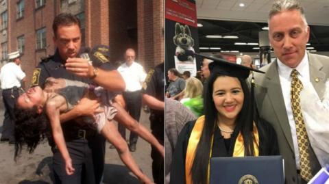 La salvó de un incendio y 18 años después lo invitó a su graduación