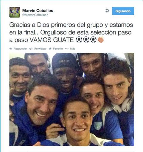 Los jugadores de Guatemala muestran su felicidad en redes sociales