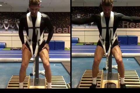 Los extraños ejercicios de Sergio Ramos al ritmo de Rihanna