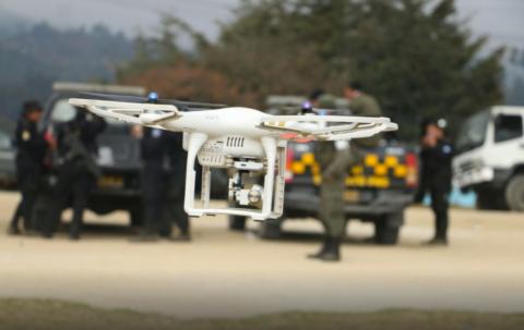 El dron que es el arma secreta de la PNC contra los extorsionistas