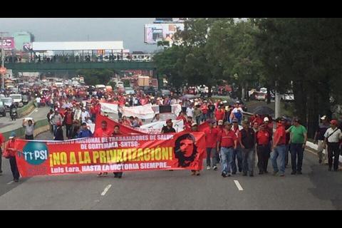 Así está el tráfico por las manifestaciones de este martes