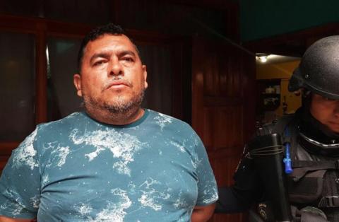 """Alias """"El Rey del Río"""" fue capturado en los operativos de este sábado. (Foto: PNC)"""