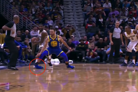 La terrible torcedura de tobillo de Stephen Curry en juego de la NBA