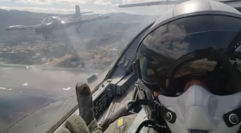 Así se vivió el show aéreo en Guatemala desde la cabina de pilotos