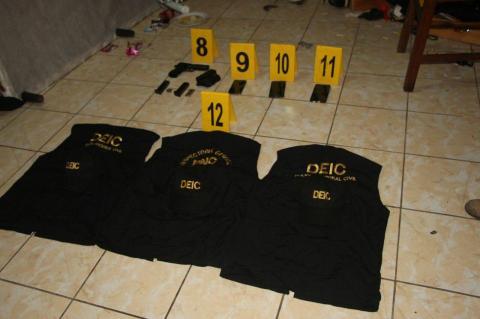 Capturan narcotraficantes que fingían ser investigadores de la PNC