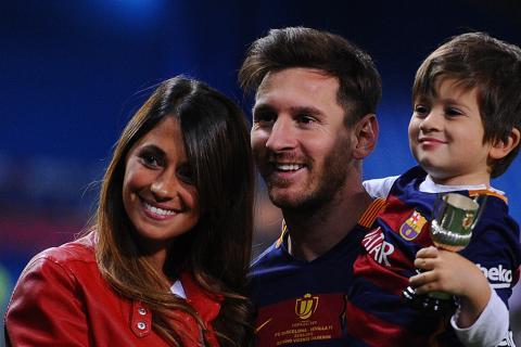 La tierna fotografía que compartió la esposa de Messi con sus hijos