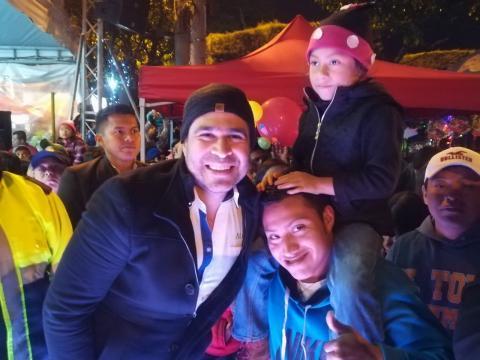 Así inauguró Neto Bran el festival navideño de Mixco