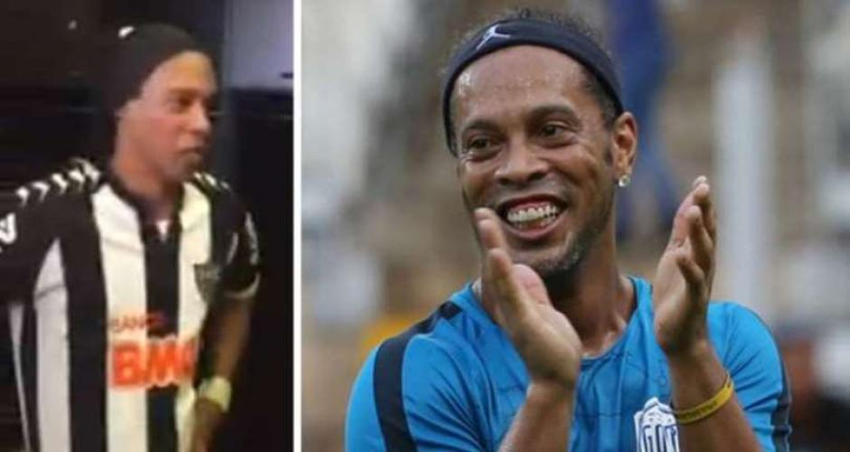 La curiosa reacción de Ronaldinho al conocer a su doble