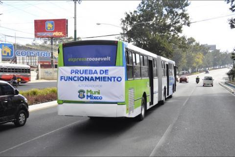 Iniciarán pruebas del funcionamiento del Express Naranjo en Mixco