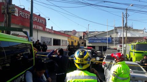 Así identificaron a los agentes de la PNC heridos en una explosión