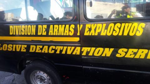 Desconocidos habrían lanzado granada de uso militar a sede de la PNC