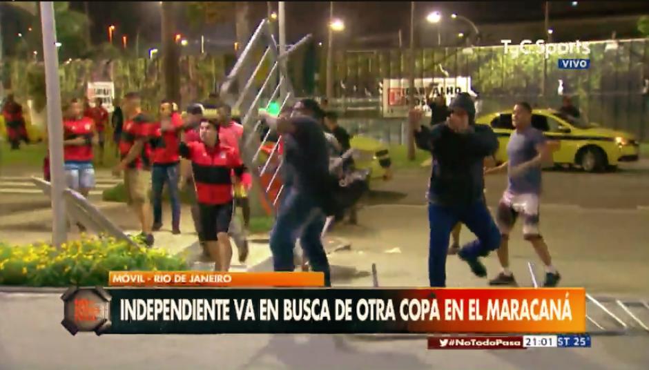Video: aficionados atacan hotel donde se hospeda el equipo rival