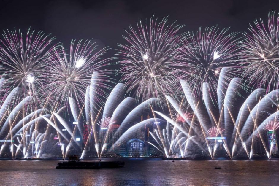 Las celebraciones de los primeros países en recibir el 2018