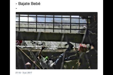 """""""Bajate, bebé"""": la frase viral después del motín en Las Gaviotas"""