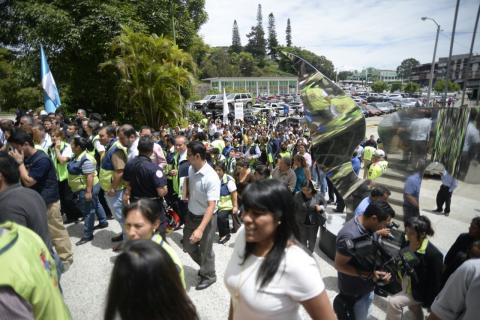 Así fue el simulacro de terremoto de la Municipalidad de Guatemala