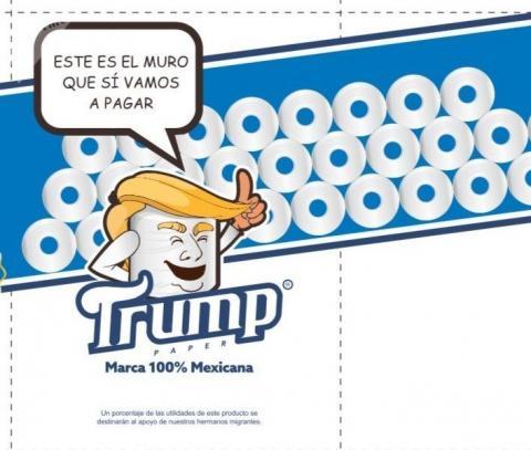 """El papel higiénico """"Trump"""" es por una buena causa"""