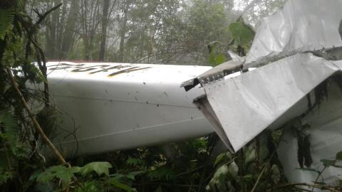 Estas son las imágenes de la avioneta accidentada en el Volcán de Agua