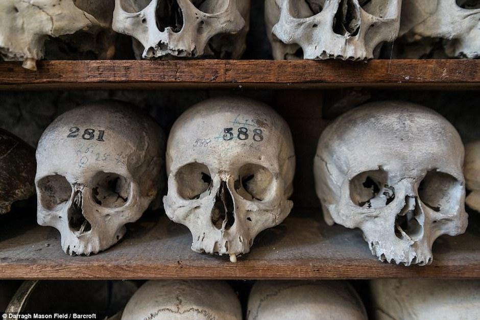 Descubren una cripta con más de 2 mil cráneos y huesos humanos