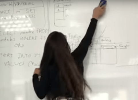 La verdad detrás del video viral de la profesora borrando el pizarrón