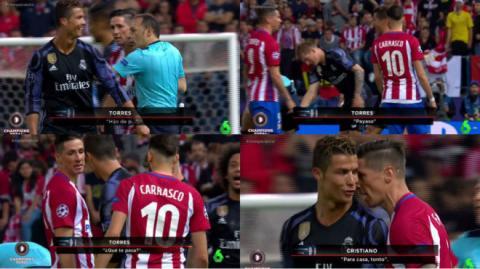 """Cristiano Ronaldo y """"el Niño"""" Torres se dijeron de todo en la cancha"""